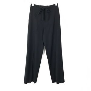 Banana Republic Black Waist-Tie Slacks Size 6